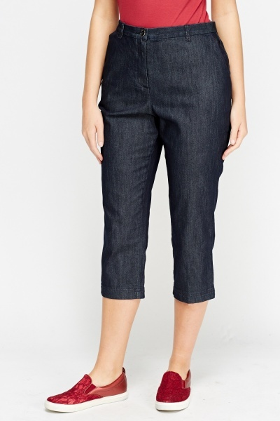 Indigo Denim 3/4 Jeans