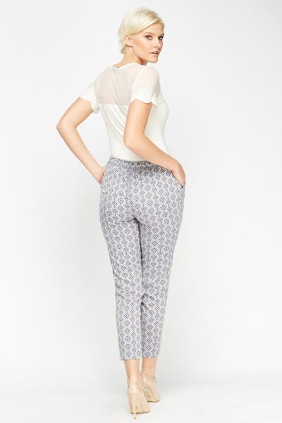Maternity Lightweight Printed Trousers