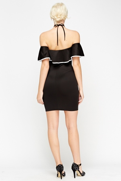 Off Shoulder Flared Bodycon Dress