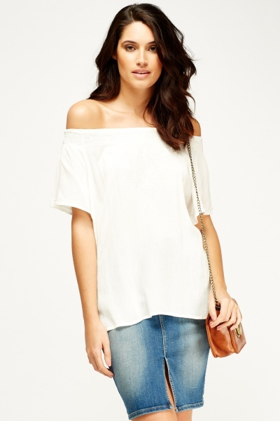 Off Shoulder Casual Top