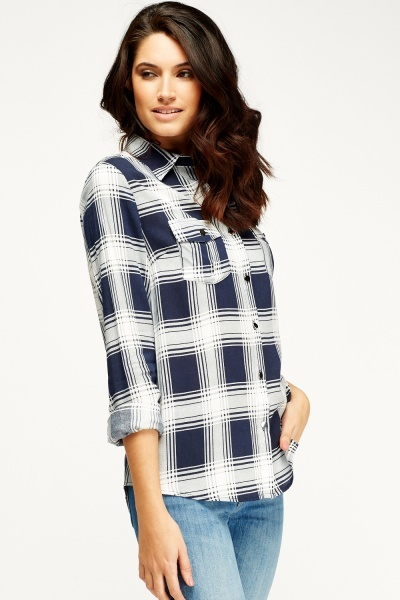 Twin Front Pocket Checked Shirt