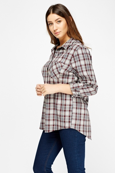 Grid Pocket Front Shirt