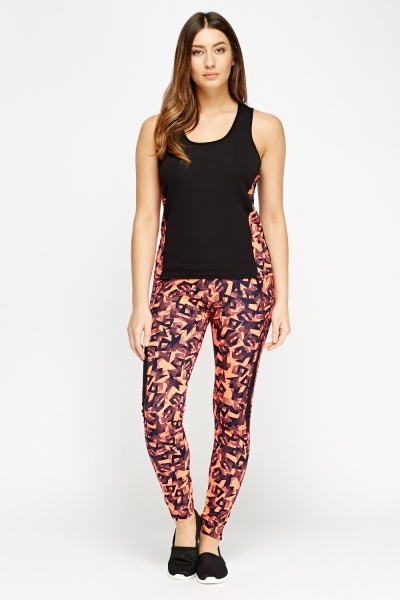 Mix Print Sport Leggings