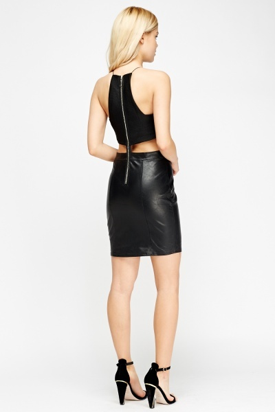 Contrast Cut Out Side Mini Dress
