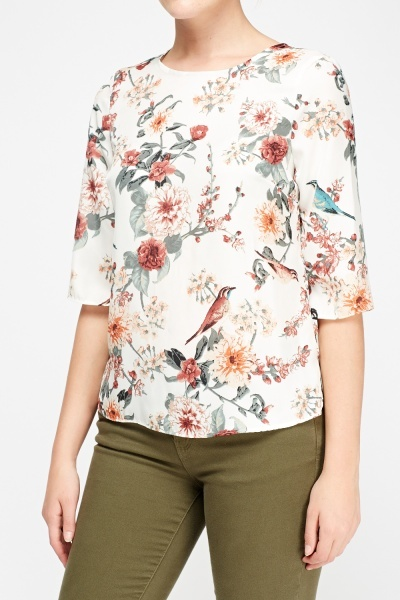 Silky Printed Blouse
