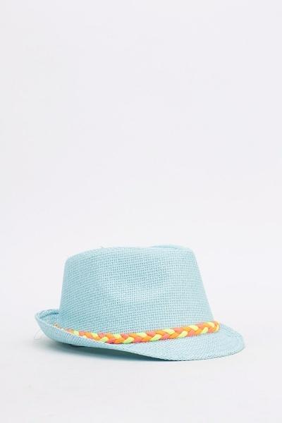 Image of Plait Trim Fedora Hat