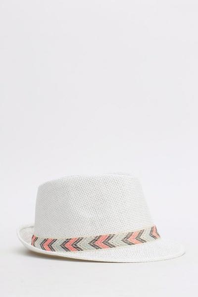Printed Trim Fedora Hats
