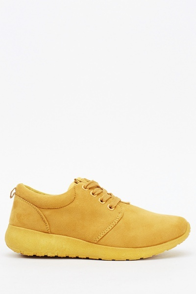 Suedette Low Top Trainers