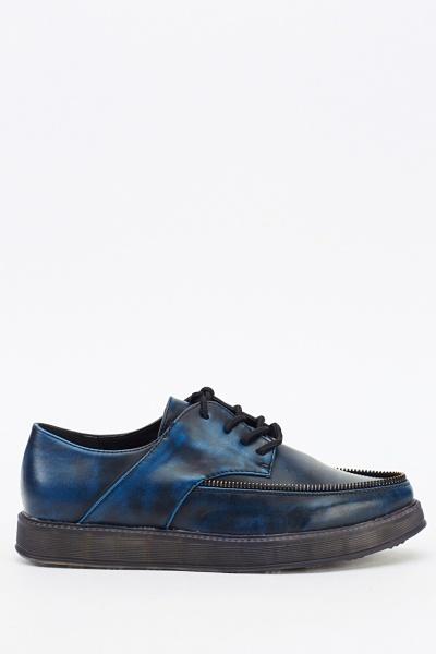 Zipped Trim Platform Shoes