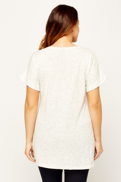 Speckled Casual Top