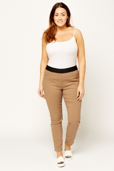 Elasticated Casual Jeggings