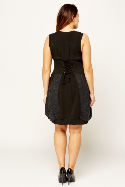 Zipped Front Contrast Dress