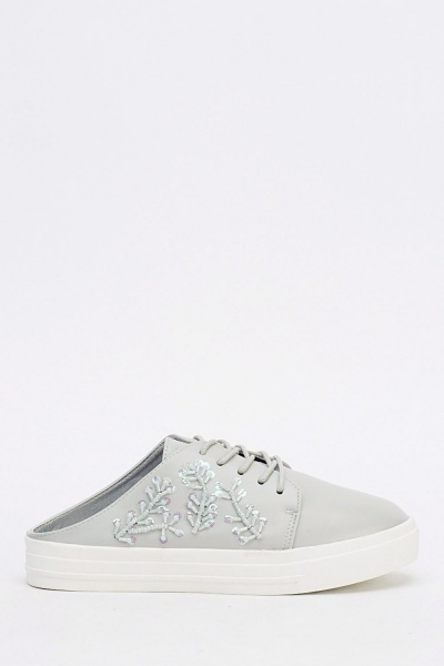 Embellished Slip On Trainers