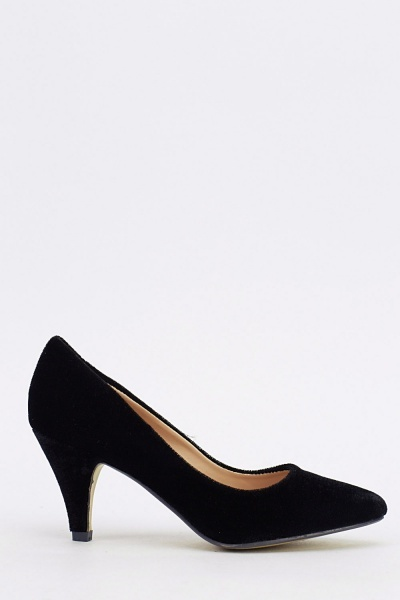 Velveteen Court Low Heel