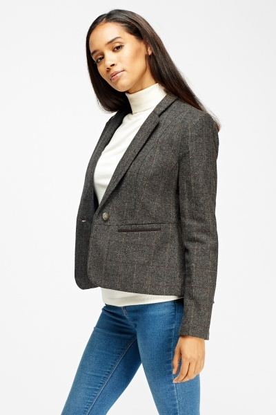 Check Grid Grey Blazer