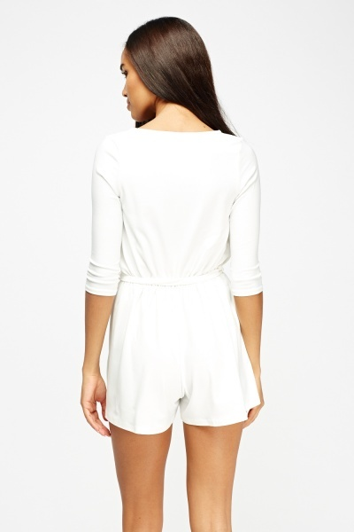 Wrap Elasticated Playsuit