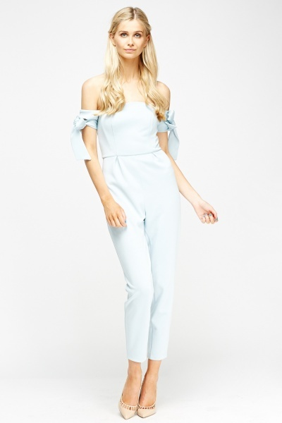 Bandeau Tie Up Sleeve Jumpsuit