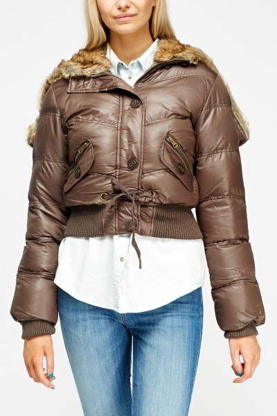 Quilted Cropped Parka Jacket