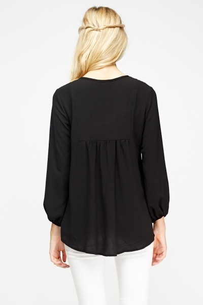 Tied Front Oversized Top
