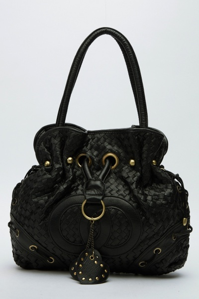 Image of Basket Weave Pouch Handbag
