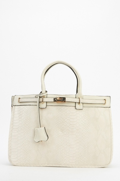 Image of Mock Croc Faux Leather Bag