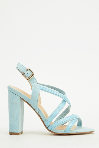 Suedette Slim Back Heeled Sandals