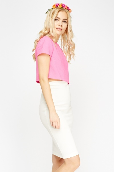 Hot Pink Box Crop Top