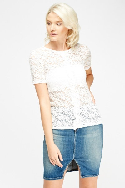 Lace Casual Panel Top