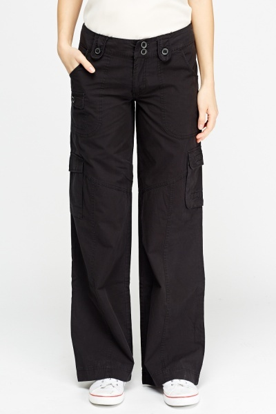 Wide Leg Combat Trousers