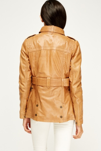 Barney And Taylor Leather Multi Pocket Jacket