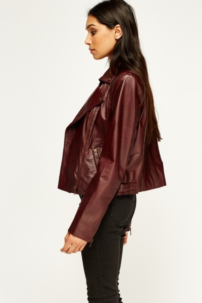 Barney & Taylor Lapel Front Leather Jacket