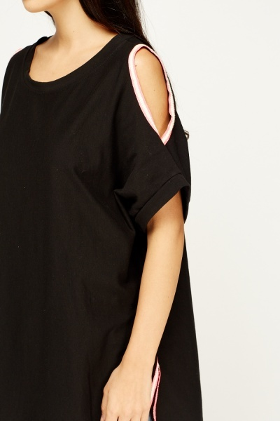 Cut Shoulder Casual Top