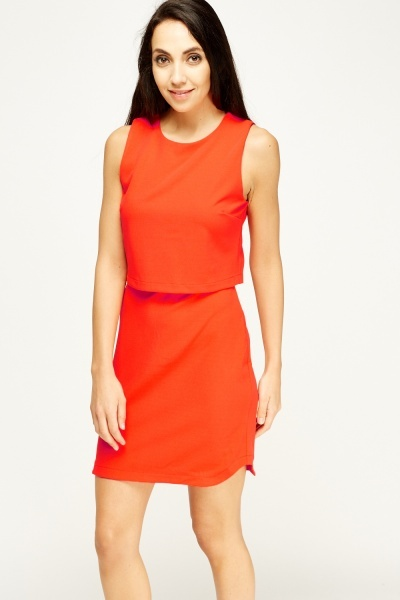 Red Overlay Dress Just 163 5