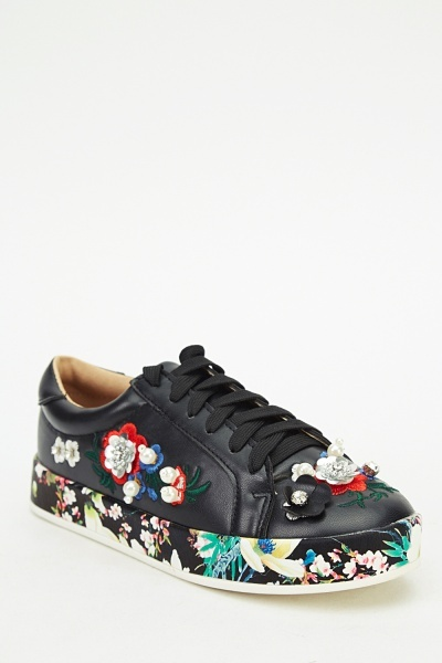 Ideal Embellished Applique Trainers