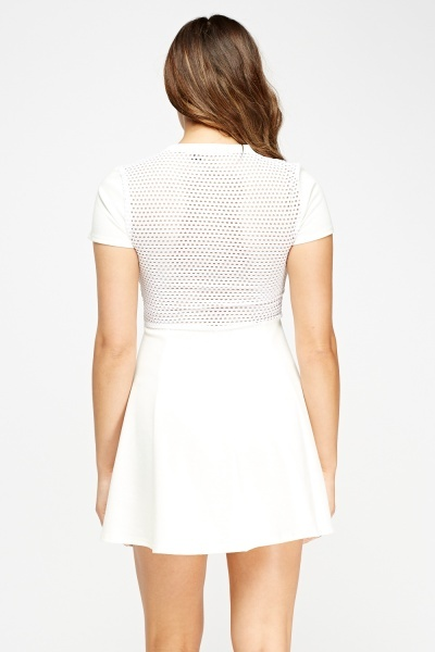 Laser Cut Trim Swing Dress