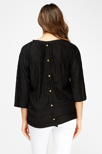 Round Neck Pleated Top