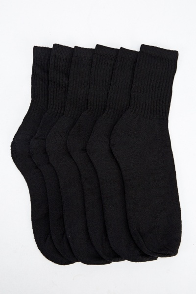 Pack Of 6 Cotton Socks