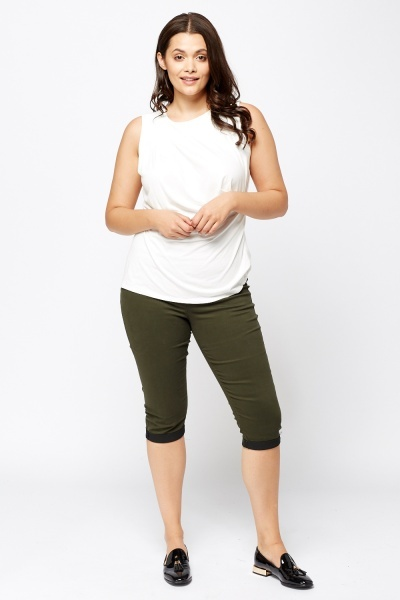 3/4 Elastic Band Jeggings