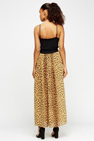 Leopard Print Maxi Skirt Just 163 5