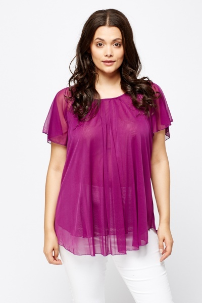 Purple Sheer Blouse