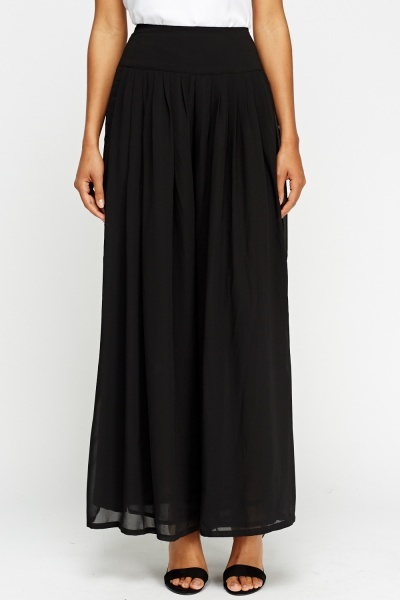 Sheer Wide Leg Trousers