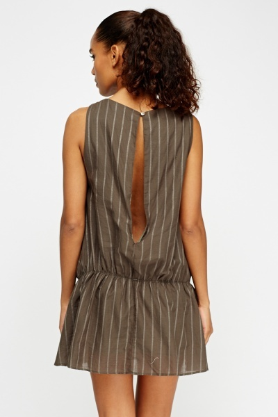 Striped Elasticated Playsuit