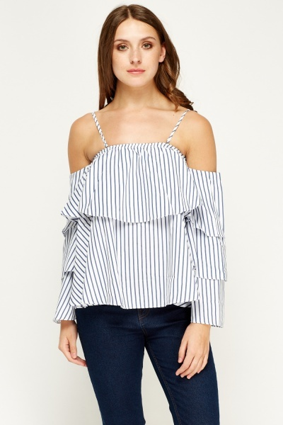 F & P Layered Cold Shoulder Top