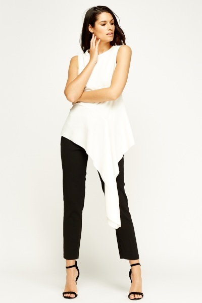 Asymmetric Off White Top