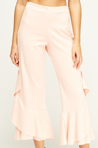 Flam Mode Pink Flared Trousers