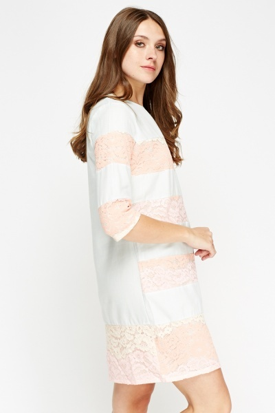 Lace Insert Shift Dress