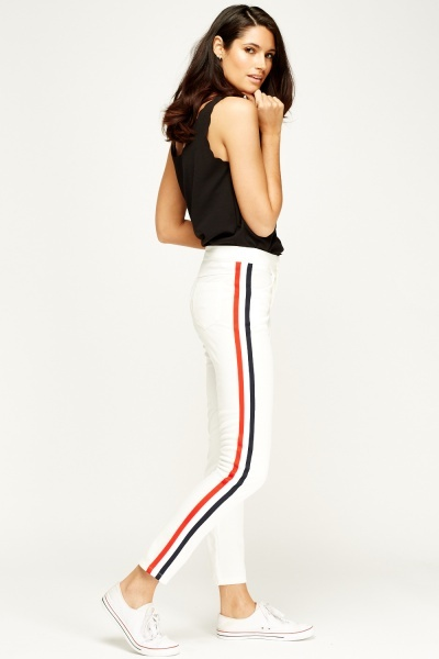 SHK Paris White Stripe Side Trousers