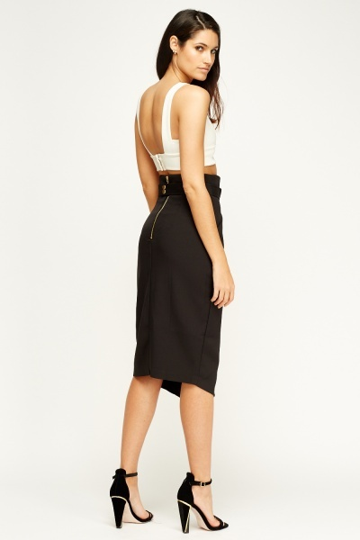 Sweewe Belted Smart Black Skirt
