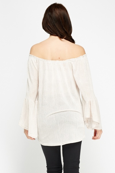 Off Shoulder Flare Sleeve Top