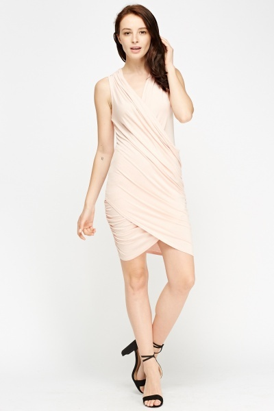 Ruched Plunge Dress